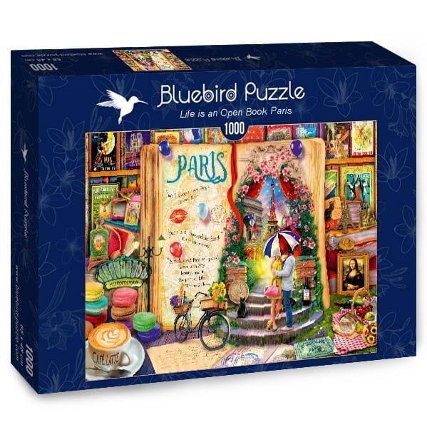 Puzzle 1000 Bluebird 70239 Aimee Stewart - Życie Jest Otwartą Książką - Paryż