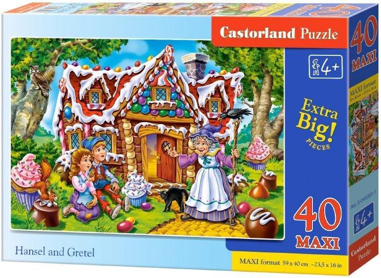 Puzzle 40 Maxi Castorland B-040285 Jaś i Małgosia