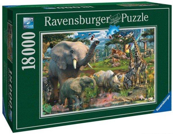 Puzzle 18000 Ravensburger 178230 Penfound - Przy Wodopoju