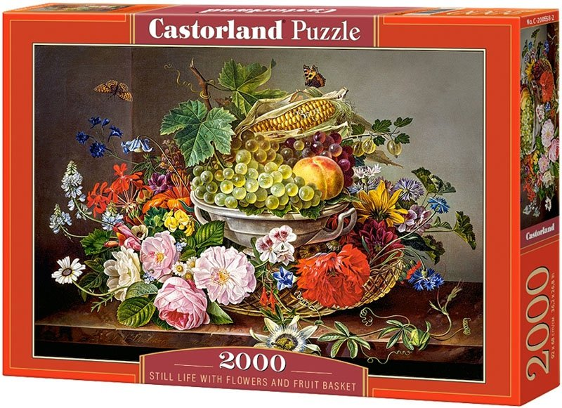 Puzzle 2000 Castorland C-200658 Martwa Natura - Kwiaty