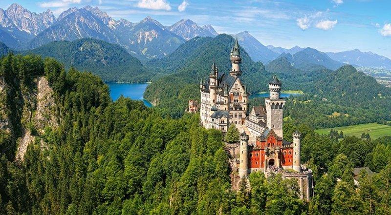 Puzzle 4000 Castorland C-400218 Viev of the Neuschwanstein Castle - Germany
