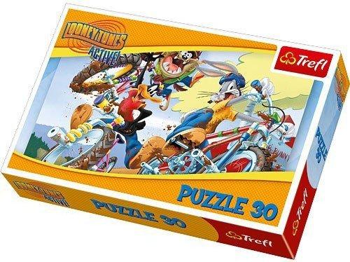 Puzzle 30 Trefl 18169 Looney Tunes - Rajd Rowerowy