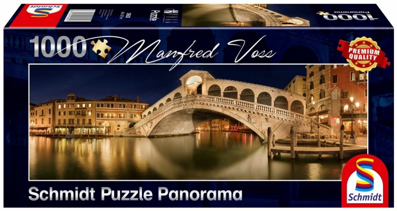 Puzzle 1000 Schmidt 59620 Manfred Voss - Most Rialto - Wenecja  - Panorama