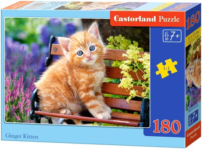 Puzzle 180 Castorland B-018178 Kotek