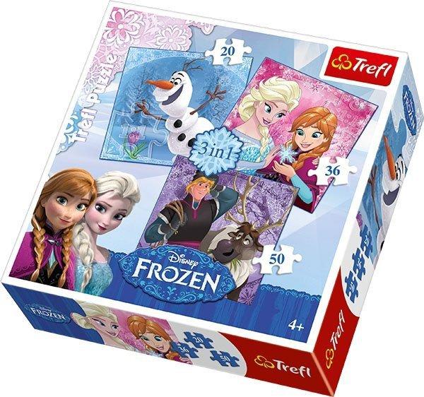 Puzzle 3w1 Trefl T-34810 Frozen