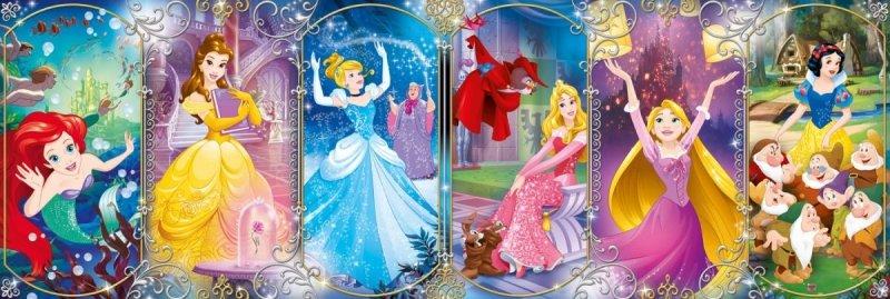 Puzzle 1000 Clementoni 39444 Panorama - Disney -Księżniczki Disneya
