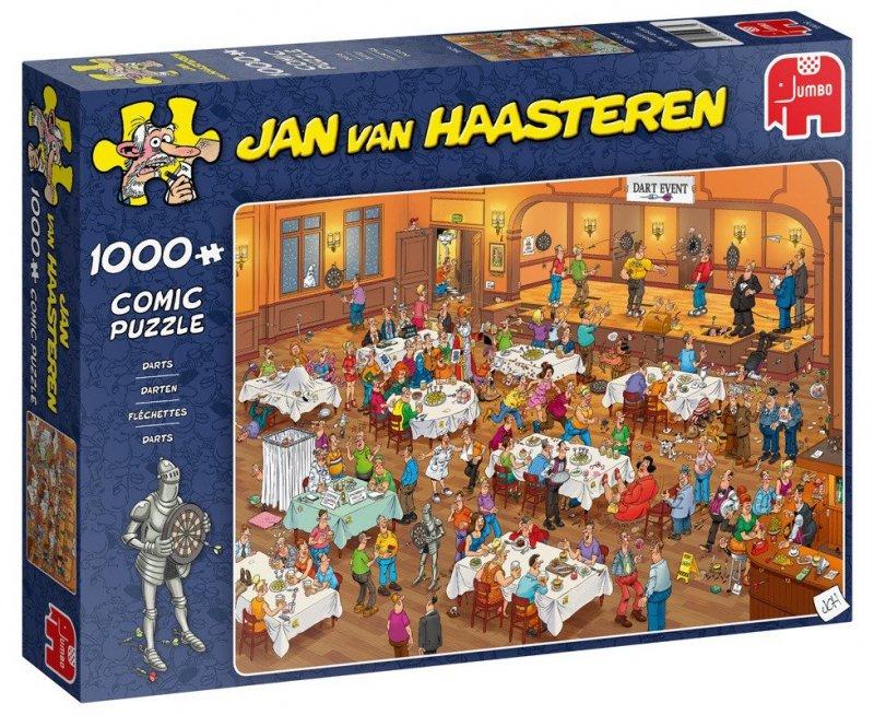 Puzzle 1000 Jumbo 19076 Jan van Haasteren - Turniej w Rzutki
