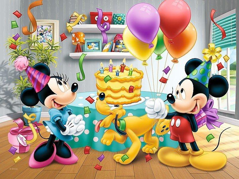 Puzzle 30 Trefl 18211 Myszka Miki - Tort Urodzinowy