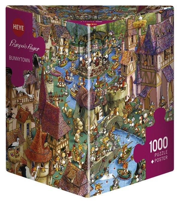 Puzzle 1000 Heye 29496 Ruyer - Teile Bunnytown