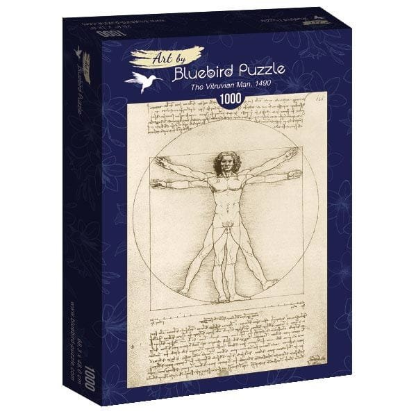 Puzzle 1000 Bluebird 60009 Leonardo Da Vinci - Człowiek Witruwiański - 1490