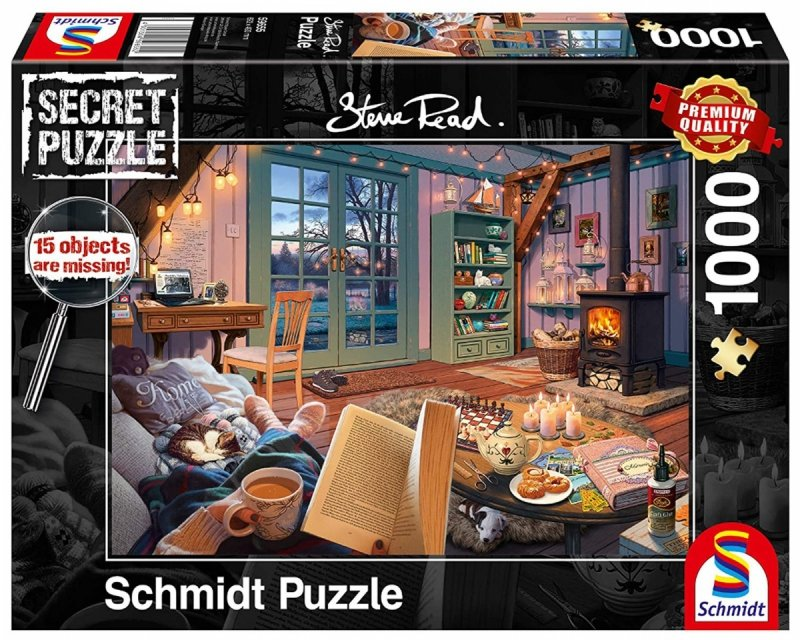 Puzzle 1000 Schmidt 59655 Steve Read - Secret Puzzle - Przerwa Urlopowa