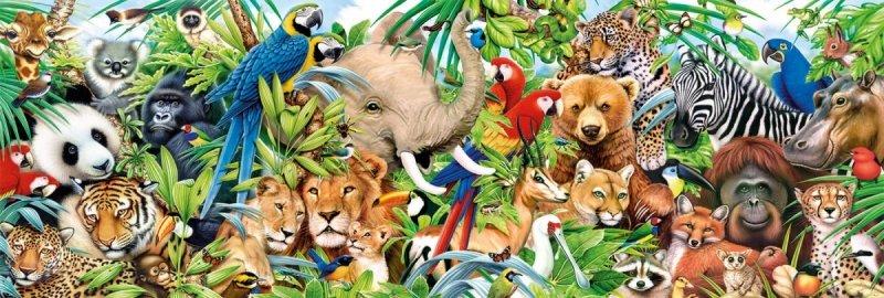 Puzzle 1000 Clementoni 39517 Dzika Przyroda - Dzikie Zwierzęta - Panorama