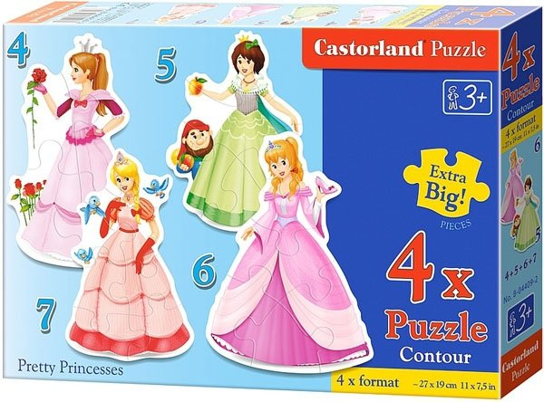 Puzzle 4,5,6,7 Castorland B-04409-2 Księżniczki