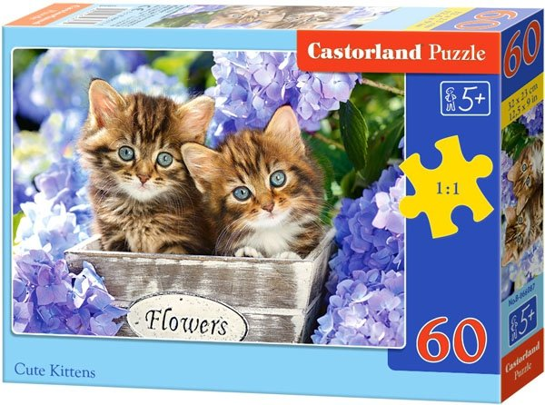 Puzzle 60 Castorland B-066087 Dwa Kotki