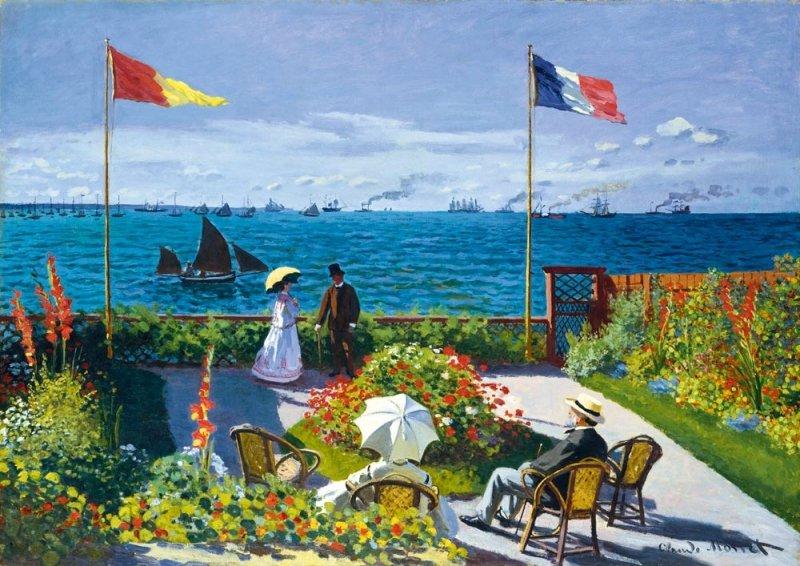Puzzle 1000 Bluebird 60042 Claude Monet - Taras nad Morzem w Saint Adresse - 1867