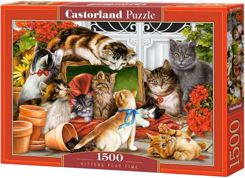 Puzzle 1500 Castorland C-151639 Koty - Czas na Zabawy