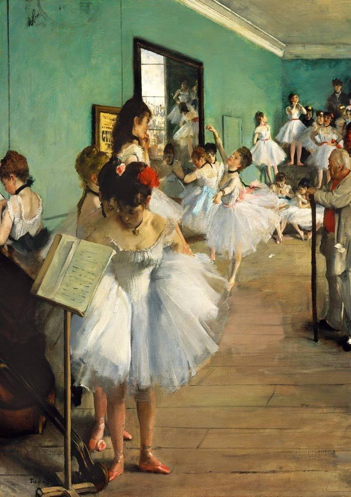 Puzzle 1000 Bluebird 60046 Edgar Degas - Lekcja Tańca - 1874 - 1890