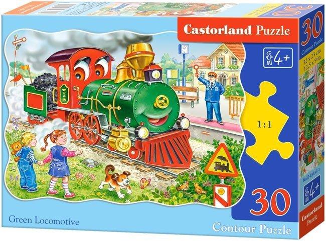 Puzzle 30 Castorland B-03433 Zielona Lokomotywa