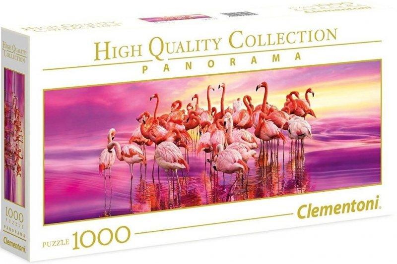 Puzzle 1000 Clementoni 39427 Taniec Flamingów - Panorama