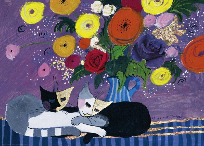 Puzzle 1000 Heye 29818 Szczęśliwe Koty