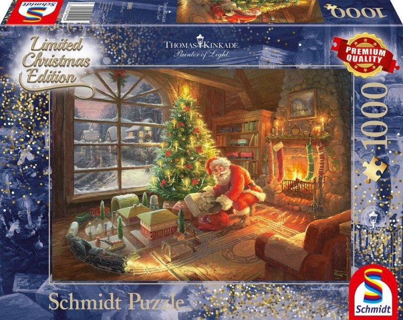 Puzzle 1000 Schmidt 59495 Thomas Kinkade - Przesyłka od Świętego Mikołaja
