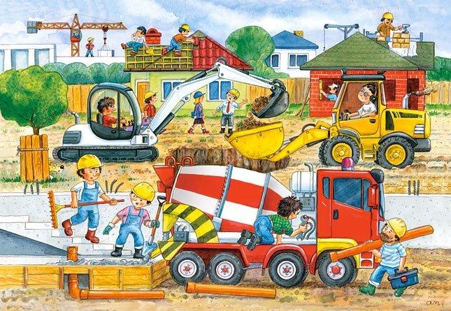 Puzzle 40 Maxi Castorland B-040018-1 Plac Budowy - Construction Site