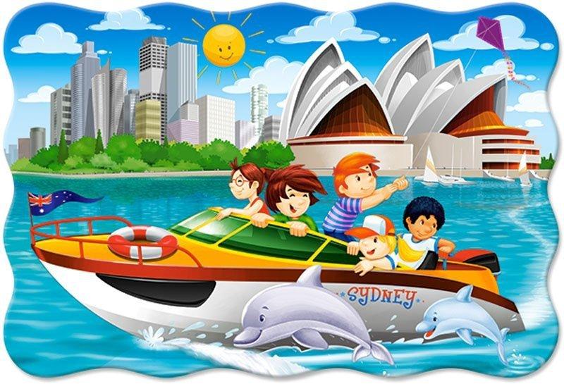 Puzzle 20 Maxi Castorland C-02375 Jacht Motorowy w Sydney