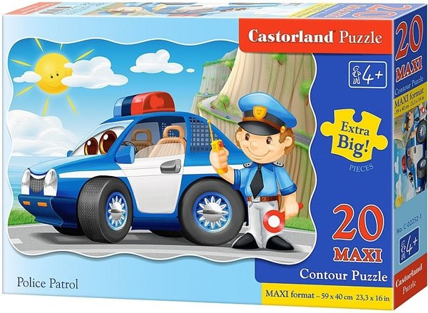 Puzzle 20 Maxi Castorland C-02252 Policja - Patrol
