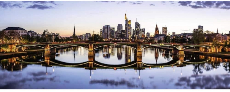 Puzzle 1000 Ravensburger 151622 Panorama - Frankfurt Am Main