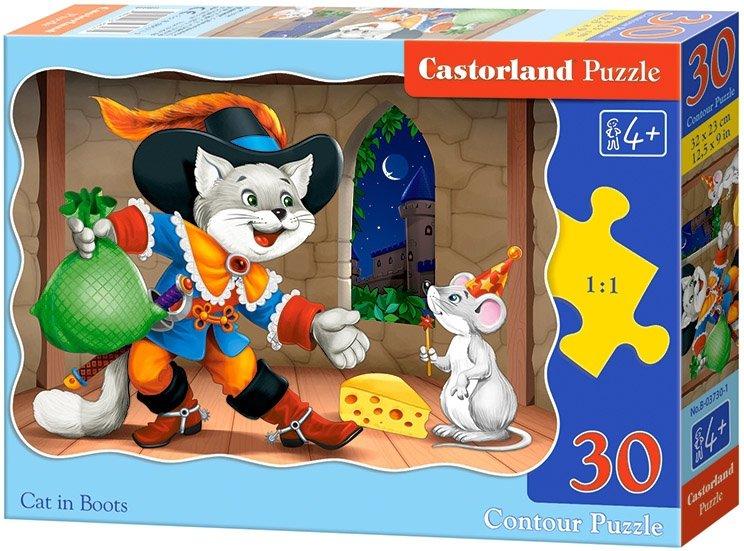Puzzle 30 Castorland B-03730 Kot w Butach