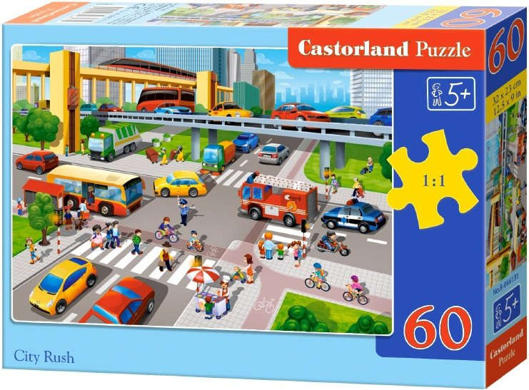 Puzzle 60 Castorland B-066131 Zatłoczona Ulica