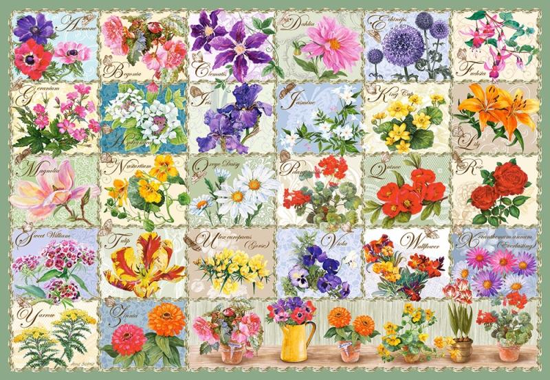 Puzzle 1000 Castorland 104338 Kwiaty - Kolaż