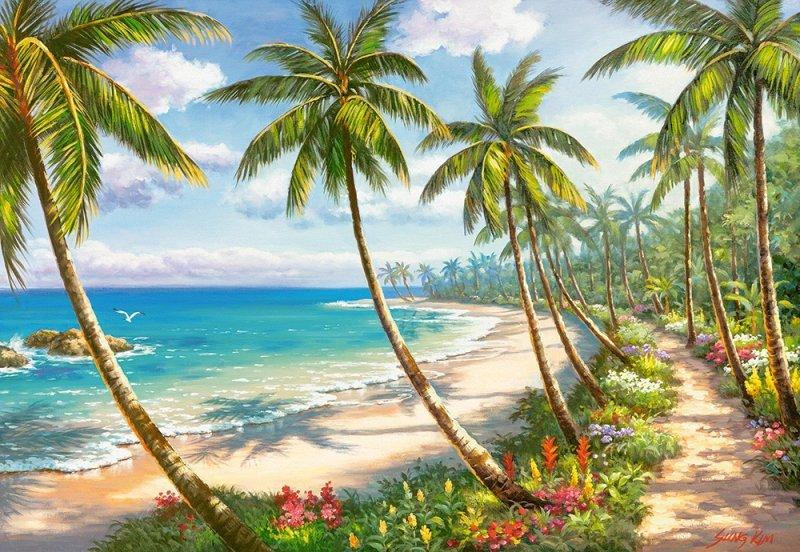 Puzzle 1000 Castorland C-104666 Plaża - Droga do Raju