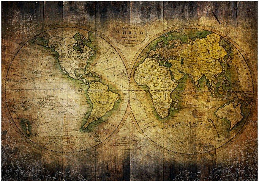 Fototapeta Hd Stara Mapa Swiata 300x210 Cm Zakup Se