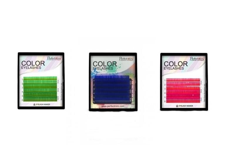 Rzęsy Kolorowe Mini
