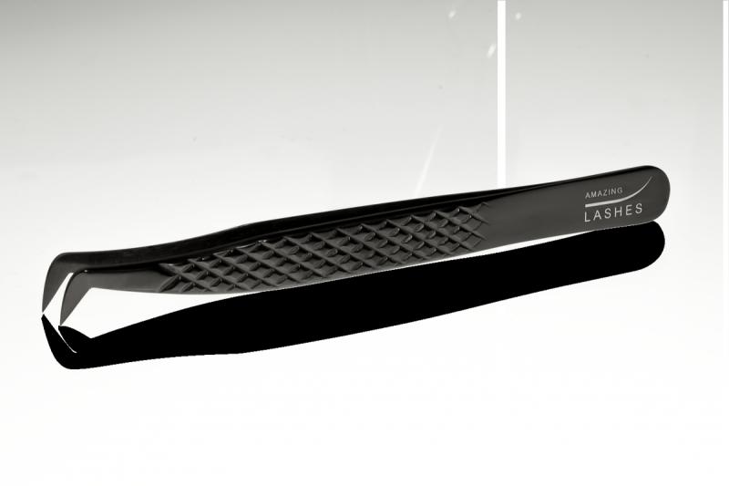 Pęseta do rzęs Diamond Black - Swan by Amazing