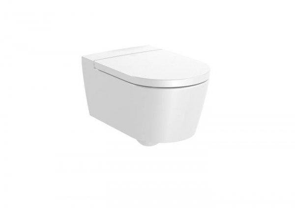 Inspira     Miska WC podwieszana Rimless Round z powłoką MaxiClean       Wymiary:      Szerokość: 370 mm.      Głębokość: 560 mm.      Wysokość: 440 mm.