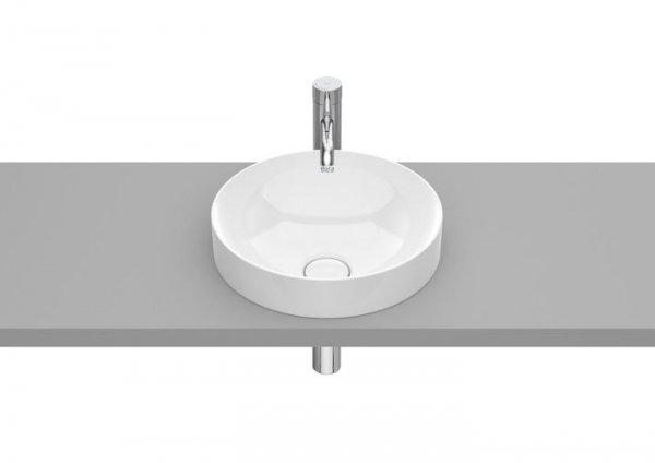 Inspira     Umywalka blatowa cienkościenna Round FINECERAMIC®       Wymiary:      Szerokość: 370 mm.      Głębokość: 370 mm.      Wysokość: 75 mm.