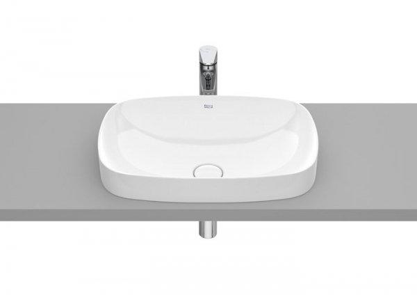Inspira Umywalka blatowa cienkościenna Soft       Wymiary:      Szerokość: 550 mm.      Głębokość: 370 mm.      Wysokość: 75 mm.