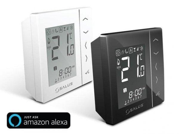 Bezprzewodowy, nadtynkowy cyfrowy regulator temperatury sieci ZigBee, 4xAAA Biały