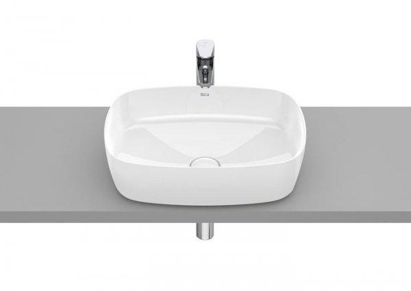 Inspira Umywalka nablatowa cienkościenna Soft       Wymiary:      Szerokość: 500 mm.      Głębokość: 370 mm.      Wysokość: 140 mm.