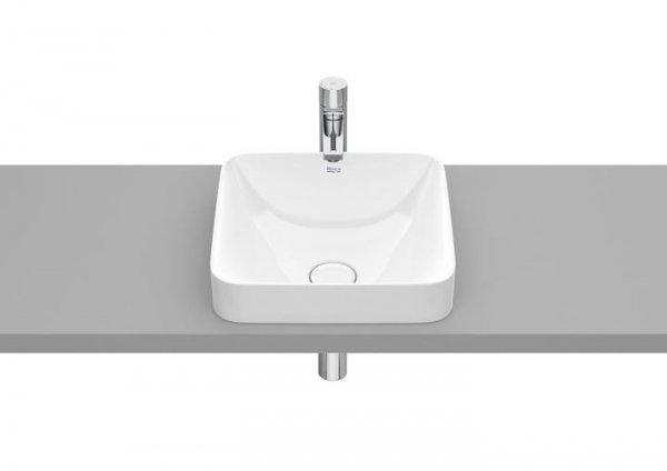 Inspira     Umywalka blatowa cienkościenna Square FINECERAMIC®       Wymiary:      Szerokość: 370 mm.      Głębokość: 370 mm.      Wysokość: 120 mm.