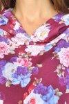 """MijaCulture - 3 w 1 bluza ciążowa i do karmienia """"Jane"""" 7144 grafit/kwiaty 2 3"""