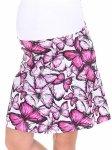 MijaCulture - spódnica ciążowa w kwiaty 1044/M64 fuksja
