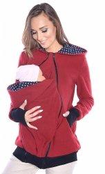 MijaCulture - 3 w1 polar  ciążowy i do noszenia dziecka 4018A/M22 bordo