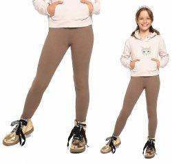 Legginsy dziewczęce zimowe getry dla dzieci Amelia beż