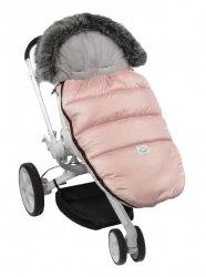 Ciepły śpiworek do spacerówki wózka Fluffy F024 róż