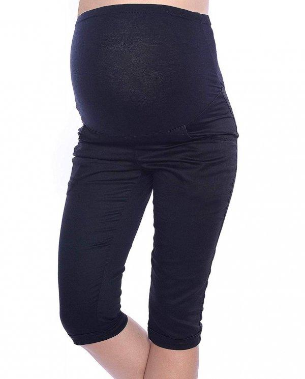 MijaCulture - spodnie rybaczki ciążowe 9045/ M34 czarny 3