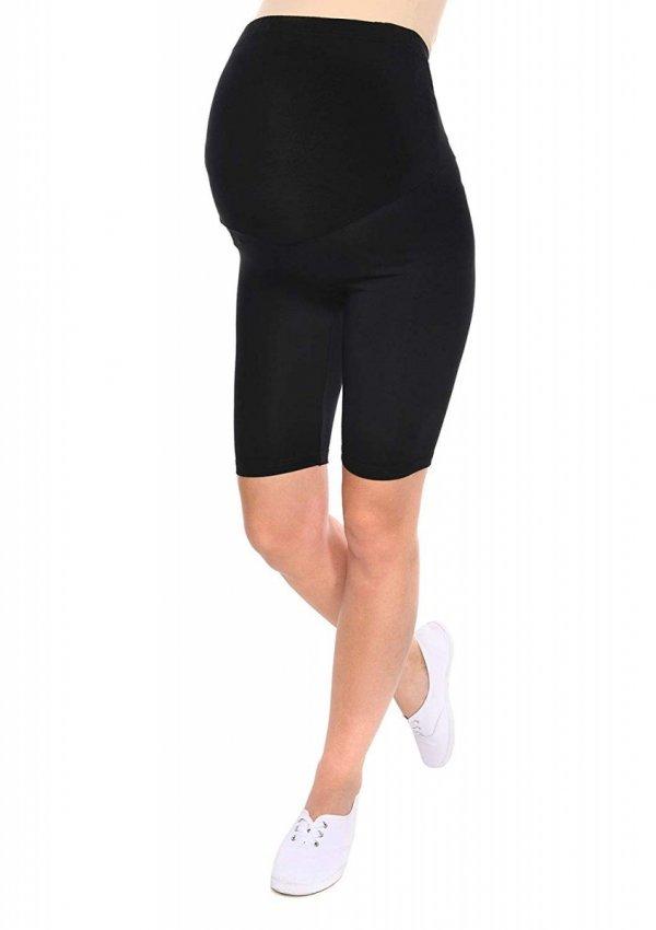 Wygodne legginsy ciążowe Mama czarny 1