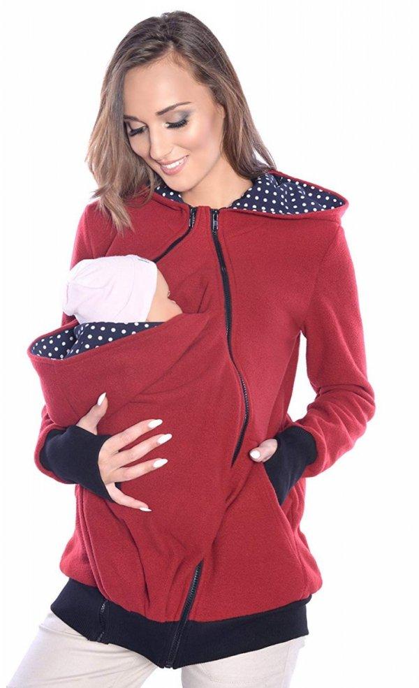 3 w1 polar ciążowy i do noszenia dziecka 4018A/M22 bordo 1